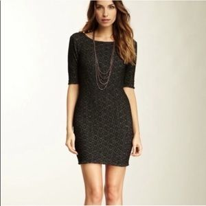 Free People Lady Pucker Scoop Back Dress Bodycon S